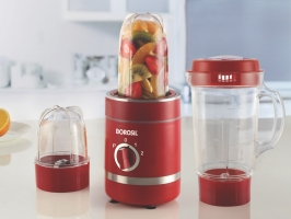 NutriFresh Blender & Grinder, Red