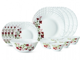 Janus 19 Pc Opalware Dinner Set