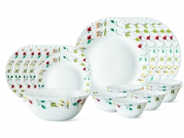 Minerva 19 Pc Opalware Dinner Set