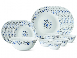 Helena 19 Pc Opalware Dinner Set