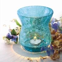 Blue Sparkle Tea Light