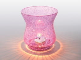 Pink Sparkle Tea Light
