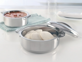 Stainless Steel Idli Server with Locking Lid, 2500 ml