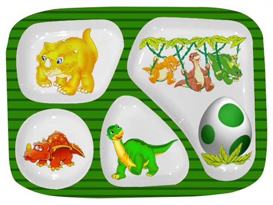 Dino Partition Plate Set of 6