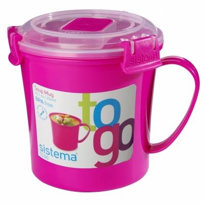 Soup Mug 650 ml Pink
