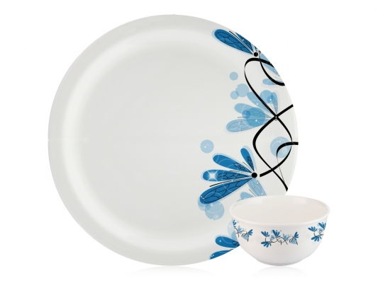 Blue Flower 22 Piece Dinnerset