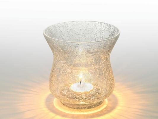 White Sparkle Tea Light