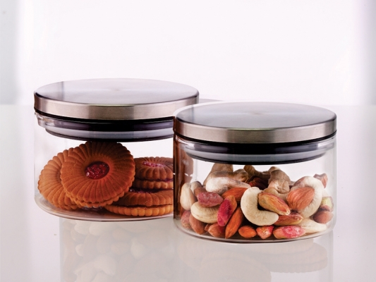 Classic Glass Jar Set of 2
