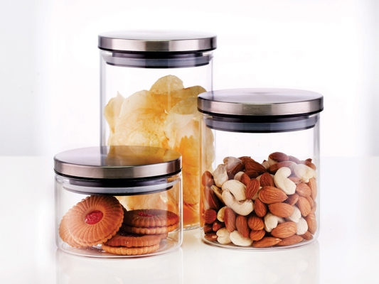 Classic Glass Jar Set of 3