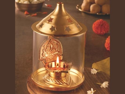Shree Ganpati Diya Brass, Large