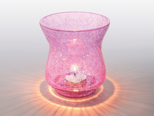 Pink Sparkle Tea Light