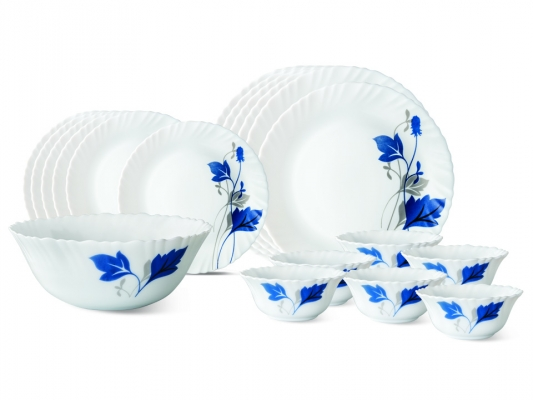 Ageria 19 Pc Opalware Dinner Set