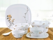 31 Pcs White Rose Irena Dinnerset