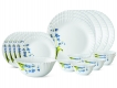 Lavender 19 Pc Opalware Dinner Set