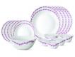 Lilac 19 Pc Opalware Dinner Set