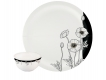 Black Buds 22 Piece Dinnerset