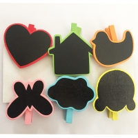 Clip holder with chalk board coloured