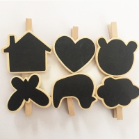 Clip holder with chalk board Black