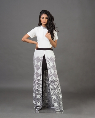 High Neck Cut Out Overlapped Jumpsuit