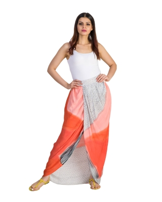 DRAPED OVERLAPPED SKIRT