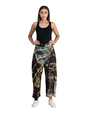 DRAPED OVERLAPPED PANTS