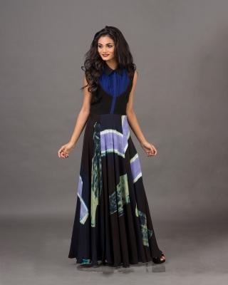 Pleated Yoke Collared Dress