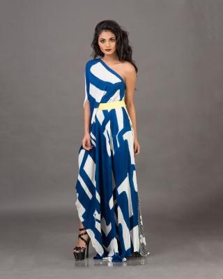 Asymmetrical Hemline Off-Shoulder Dress