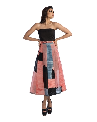 Pleated A-Line Tube Dress